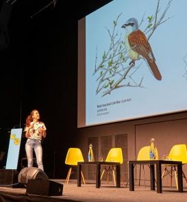 Presentando en el Fixing the Future (Foto: Caitlin O'Rorke)